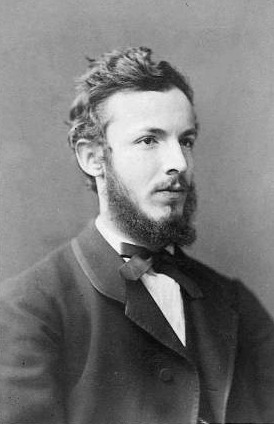 Georg Cantor circa 1870. Photographer unkown.  Via Wikimedia Commons