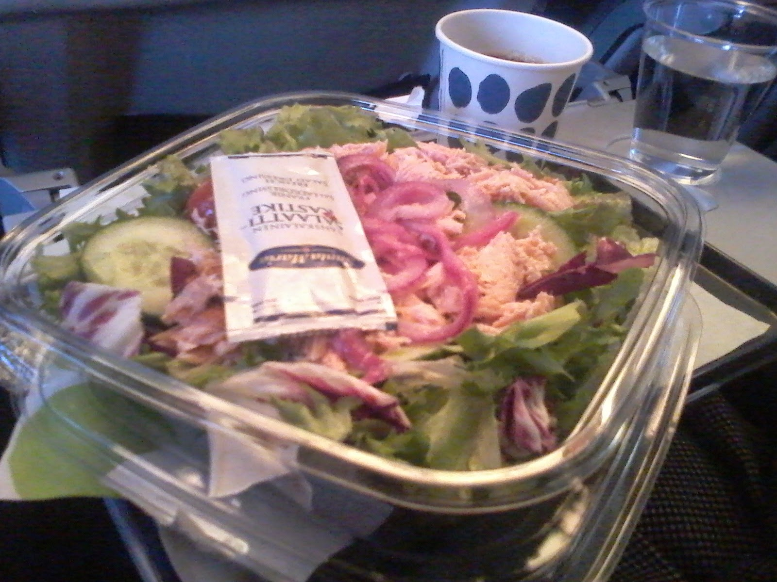 Finnair fish salad